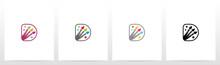 Colorfull Brushes On Letter Logo Design D