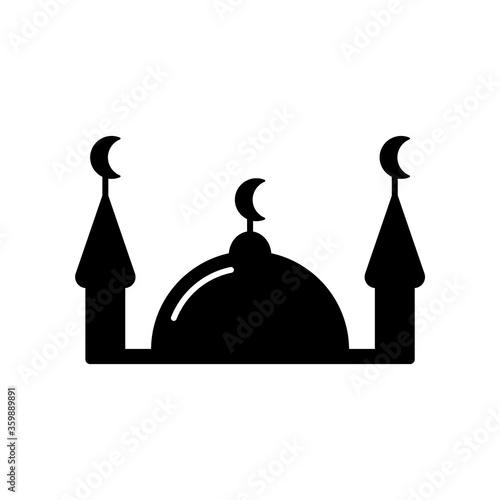 Silhouette Muslim mosque Slika na platnu