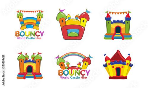 Fotografía Bouncy Castle Hire logo design bundle