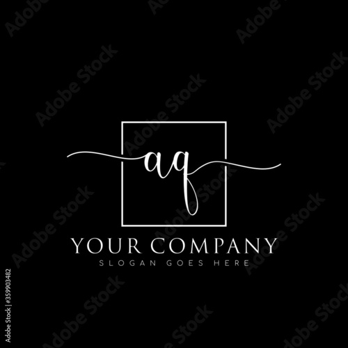 Photo initial AG branding logo collections, handwriting logo of initial signature, wed