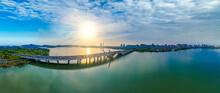 Dusk Scenery Of Li Lake Bridge...