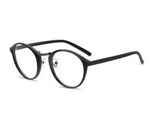 Black Glasses On A White Backg...