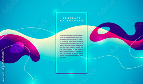 Minimalist abstract banner design in fluid style. Vector illustration.