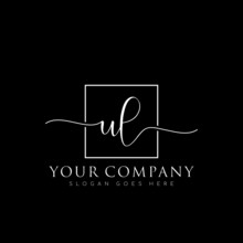 Initial UL Branding Logo Collections, Handwriting Logo Of Initial Signature, Wedding, Fashion, Floral And Botanical With Creative Template Vector