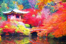 Impressionnisme. Jardin Japona...