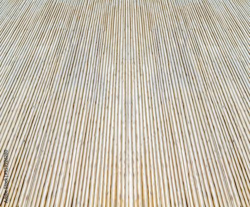 Fotografia, Obraz Sol béton brut rainuré antidérapant  texture bambou