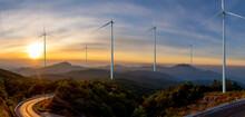 Wind Turbine Or Wind Power Tra...