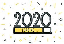 Happy New Year 2021 Layout Vec...