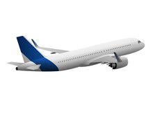 Narrow Body Aircraft With Blue Tail