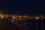 Fototapeta Londyn - Townscape of Saint Petersburg City at Night. Views from the Embankments