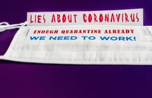 ENOUGH QUARANTINE ALREADY. Lie...