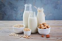 Dairy Free Milk Drink And Ingredients