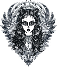 Vector Black And White Mystic ...