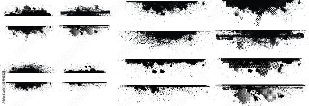 Fototapeta Grunge borders set. Vector