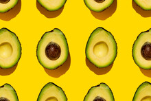 Pattern Of Halved Avocados On ...