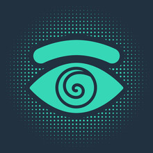 Green Hypnosis Icon Isolated O...