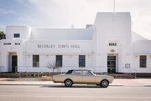 Beverley Town Hall Old Buiilding And Vintage Holden In The Avon Valley In Western Australia