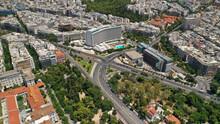 Aerial Drone Photo Of Athens Metropolitan Dense Populated Area In Vasilisis Sofias And Vasileos Konstantinou Avenues, Attica, Greece