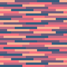 Blue And Pink Rectangles Background - Seamless Pattern. Vector Illustration.