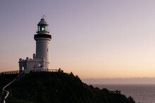 View Of Lighthouse At Sunrise