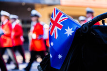 Australian Flag At ANZAC Day P...