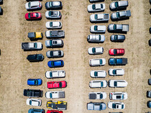 Top Down Aerial Photo Of Cars ...