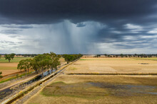 Aerial View Of A Storm Cloud D...