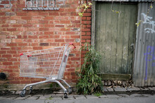 Shopping Trolley Abandoned In A Lane