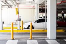 Car Leaving Car Park