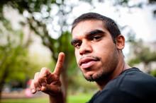 Young Aboriginal Adult Outdoor...