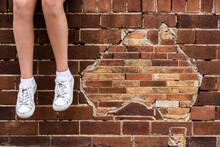 Map Of Australia In Brick Wall