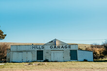 Old Abandoned Historic Garage In The Country.