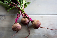 Rustic Beetroots On A Grey Woo...