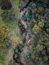 Birds Eye View Of Small Creek