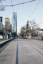 Tramlines In Melbourne CBD