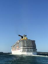 Large Cruise Ship Leaving Sydney Harbour