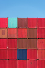 Stacked Sea Containers