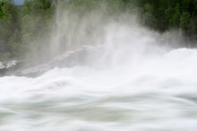 Fast Flowing Flooded River Cur...