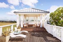 Private Sun Porch At A Luxury Resort