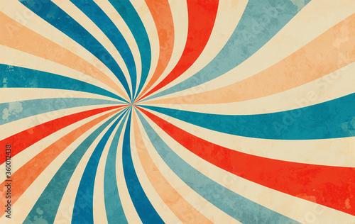 Plakaty retro  retro-starburst-sunburst-background-pattern-and-grunge-textured-vintage-color-palette-of-orange