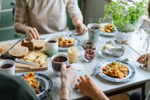 Crop Family Enjoying Breakfast...