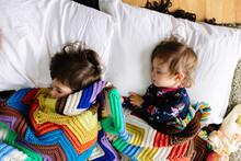 Overhead View Of Children Sleeping