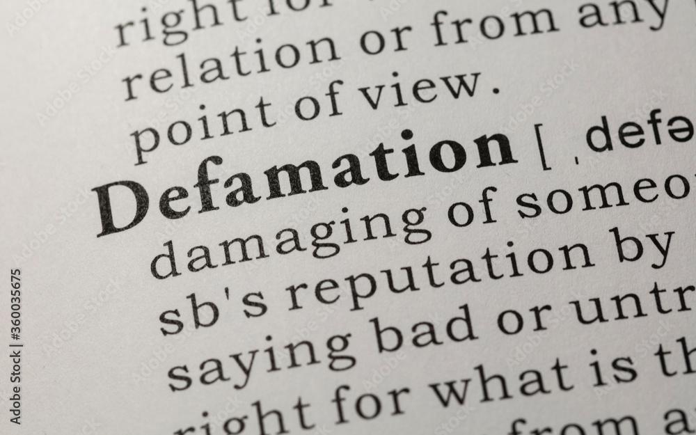 Fototapeta definition of defamation