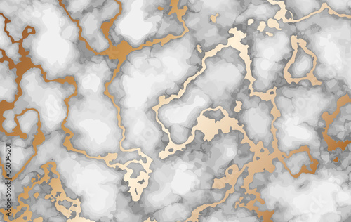 Fotografija Marble background with inlaid gold. Luxury marble texture.
