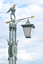 Antique Green City Lantern On ...