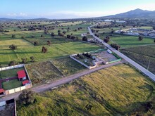 Beautiful Big Green Meadows With Aerial View