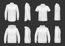 White Sweatshirt, Hoodie And S...