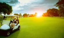 Woman Golfer Drinking Cool Wat...