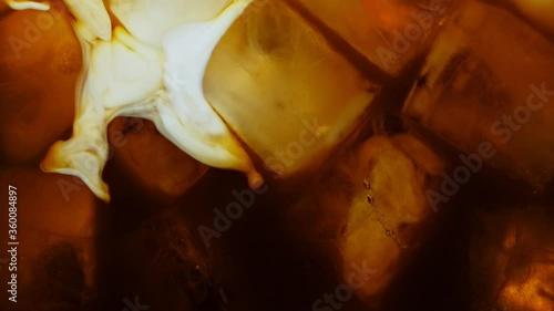 Fototapeta Ice Cubes with Cola, Macro Shot