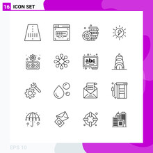 Pack Of 16 Creative Outlines Of Solidarity, Finance, Money, Economy, Charg